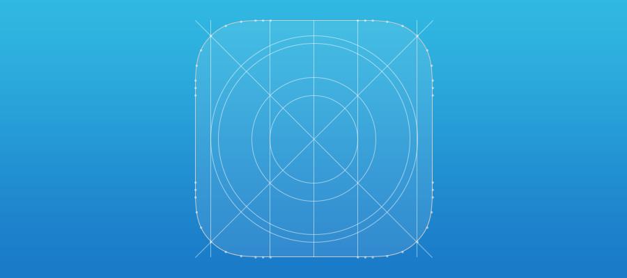 Plantilla Fireworks para iconos en iOS