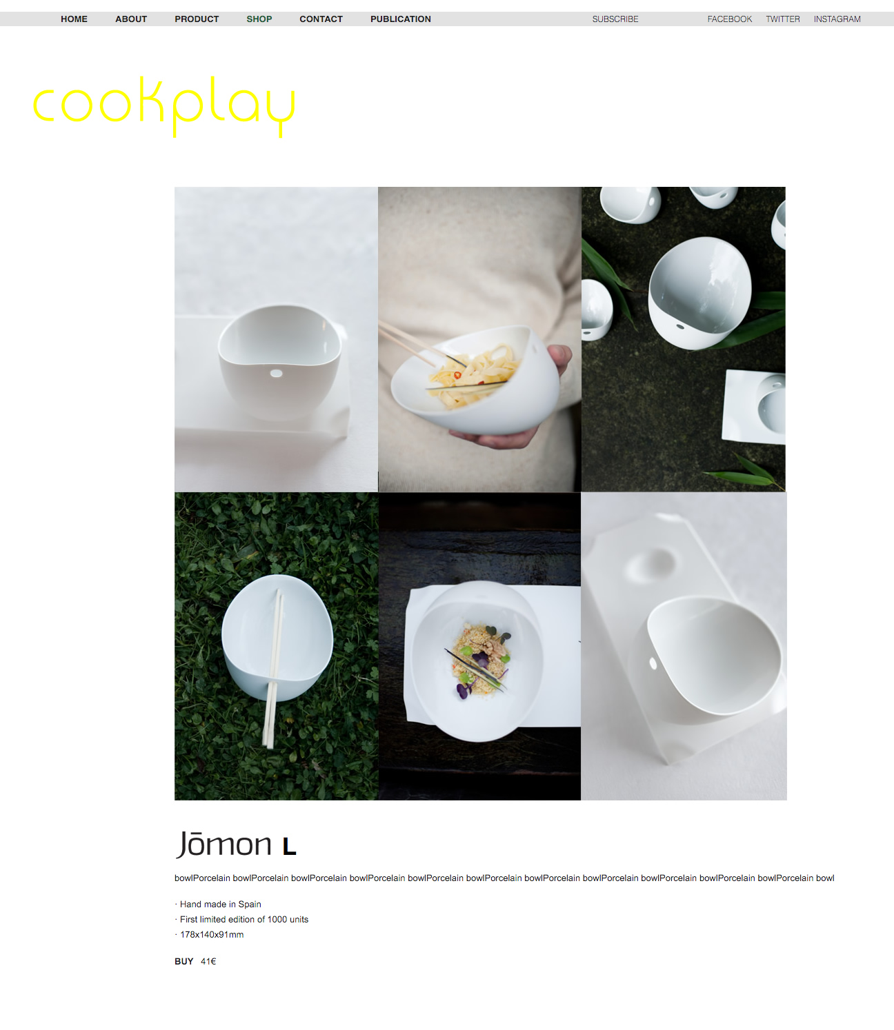 Cookplay. Product